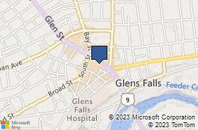 Bing Map of 206 Glen St Glens Falls, NY 12801