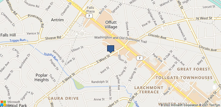 206 S. West Street Falls Church, VA, 22046 Map