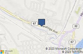 Bing Map of 207 Saratoga Ave Mechanicville, NY 12118