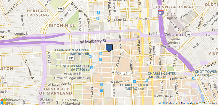 207 W Saratoga St Baltimore, MD, 21201 Map
