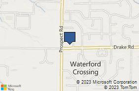 Bing Map of 20898 Drake Rd Strongsville, OH 44149