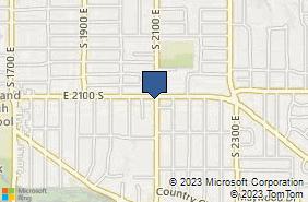 Bing Map of 2090 E 2100 S Salt Lake City, UT 84109