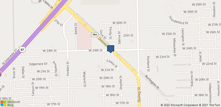 2101 W 24th St Plainview, TX, 79072 Map