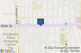Bing Map of 2101 W 95th St # 1 Chicago, IL 60643