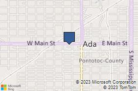 Bing Map of 211 W Main St Ada, OK 74820