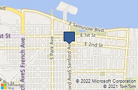 Bing Map of 212 Sanford Ave Sanford, FL 32771