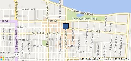 Bing Map of 212 Sanford Ave Sanford, FL 32771