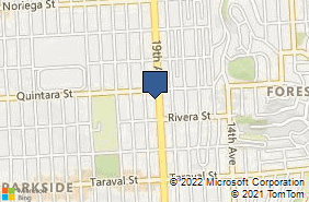 Bing Map of 2121 19th Ave Ste 102 San Francisco, CA 94116