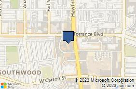 Bing Map of 21235 Hawthorne Blvd Ste 201 Torrance, CA 90503