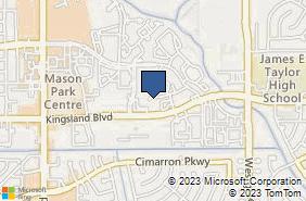 Bing Map of 21354 Provincial Blvd Katy, TX 77450