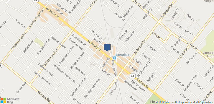 215 W Main St Lansdale, PA, 19446 Map