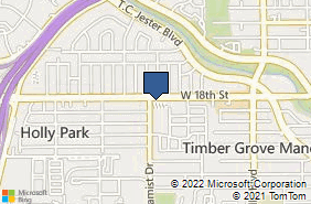 Bing Map of 2150 W 18th St Ste 101 Houston, TX 77008