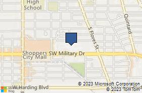 Bing Map of 217 Sw Military Dr San Antonio, TX 78221