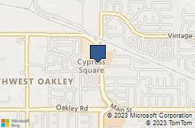 Bing Map of 2197 Main St Oakley, CA 94561