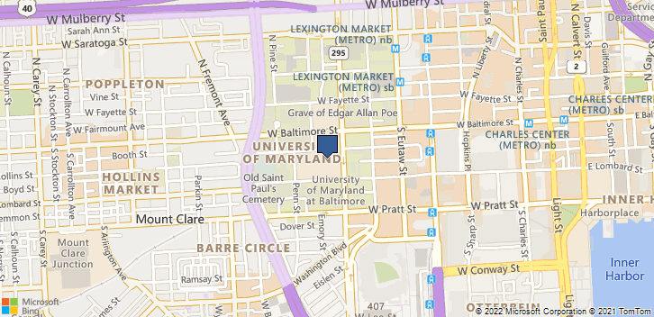 22 S Greene St Dept Nep Baltimore, MD, 21201 Map