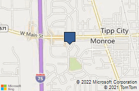 Bing Map of 22 S Tippecanoe Dr Tipp City, OH 45371