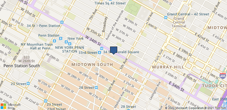 22 W 34th St New York, NY, 10001 Map
