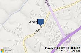 Bing Map of 220 S Main St Amherst, VA 24521