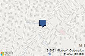 Bing Map of 2209 Justice St Ste B Monroe, LA 71201
