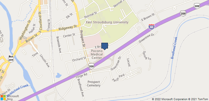 221 E Brown St East Stroudsburg, PA, 18301 Map