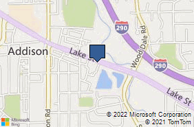 Bing Map of 221 E Lake St Ste 201 Addison, IL 60101