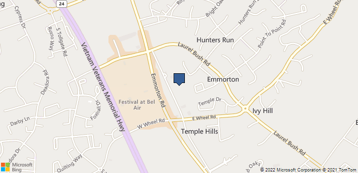 2225 Old Emmorton Rd, 100 Bel Air, MD, 21015 Map