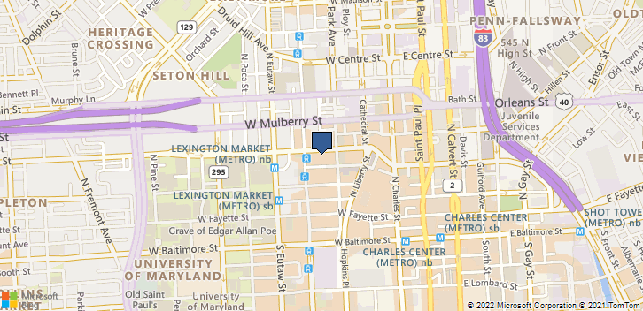 223 W Saratoga St Baltimore, MD, 21201 Map