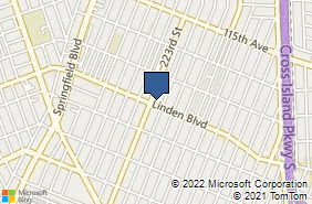 Bing Map of 22307 Linden Blvd Cambria Heights, NY 11411