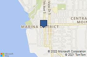 Bing Map of 22315 7th Ave S Des Moines, WA 98198