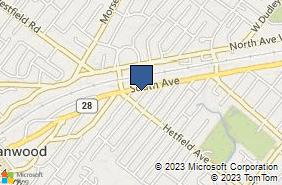 Bing Map of 2284 South Ave Scotch Plains, NJ 07076