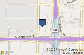 Bing Map of 2300 Valley View Ln Ste 618 Irving, TX 75062