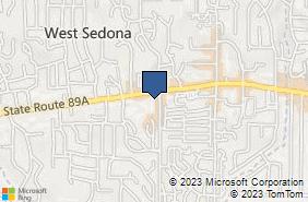 Bing Map of 2301 W Sr 89a Ste 103 Sedona, AZ 86336