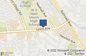 Bing Map of 23033 Lyons Ave Ste 2 Newhall, CA 91321