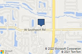Bing Map of 2310 W Southport Rd Ste H Indianapolis, IN 46217