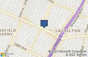 Bing Map of 23117 Merrick Blvd Laurelton, NY 11413