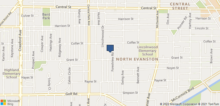 2316 Forestview Rd Evanston, IL, 60201 Map