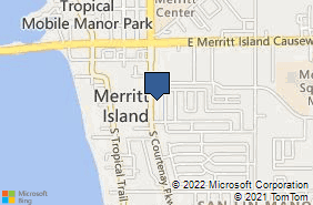 Bing Map of 232 S Courtenay Pkwy Merritt Island, FL 32952