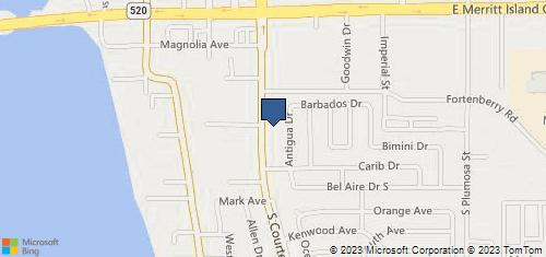 Bing Map of 232 S Courtenay Pkwy Merritt Island, FL 32952