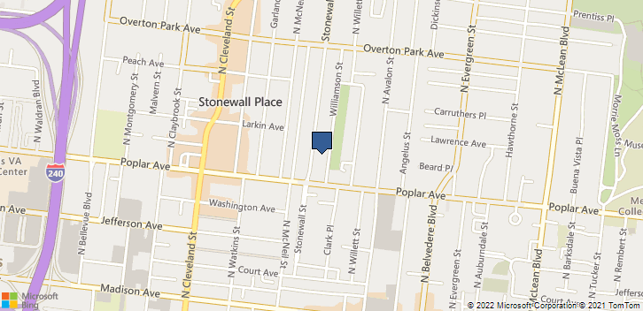 232 Stonewall St Memphis, TN, 38112 Map