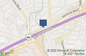 Bing Map of 23273 Ventura Blvd Ste A Woodland Hills, CA 91364