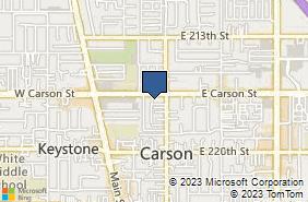 Bing Map of 234 E Carson St Ste 9 Carson, CA 90745
