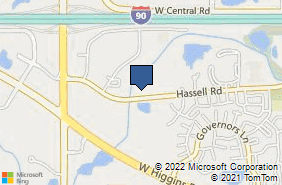 Bing Map of 2358 Hassell Rd Hoffman Estates, IL 60169