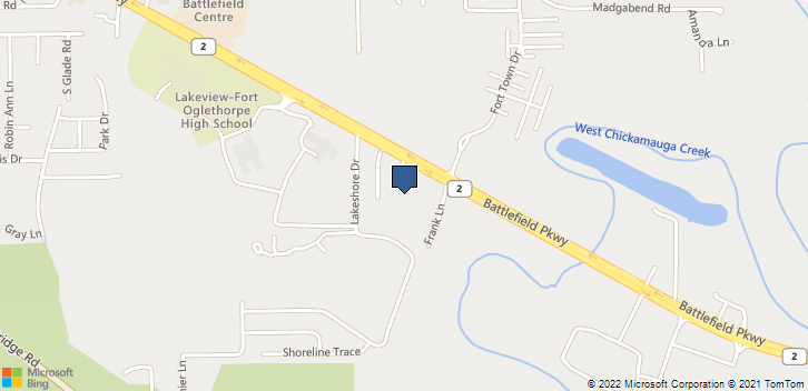 2366 Battlefield Pkwy Fort Oglethorpe, GA, 30742 Map