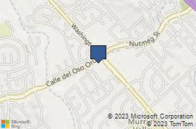 Bing Map of 23771 Washington Ave Ste 101 Murrieta, CA 92562