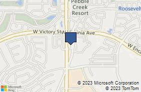 Bing Map of 2403 N Pebble Creek Pkwy Ste 110 Goodyear, AZ 85395