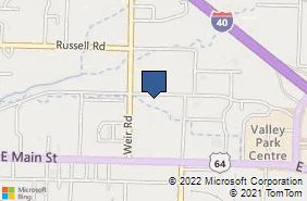 Bing Map of 2410 E Parkway Dr Ste 4 Russellville, AR 72802