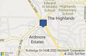 Bing Map of 2413 Jordan Ln Nw Ste B Huntsville, AL 35816