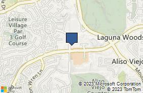 Bing Map of 24361 El Toro Rd Ste 175 Laguna Woods, CA 92637