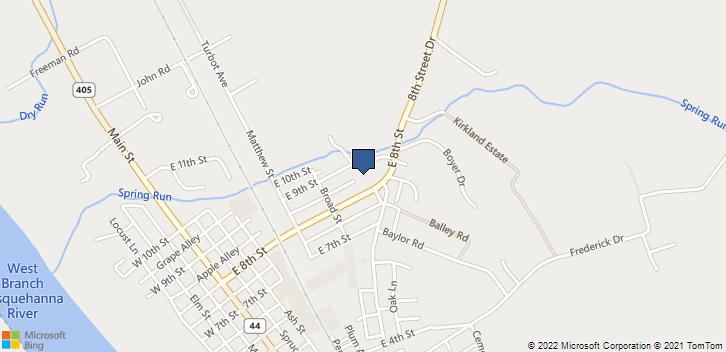 245 E 8th St Watsontown, PA, 17777 Map