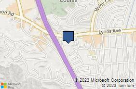 Bing Map of 24502 Lyons Ave # 3/4 Santa Clarita, CA 91321